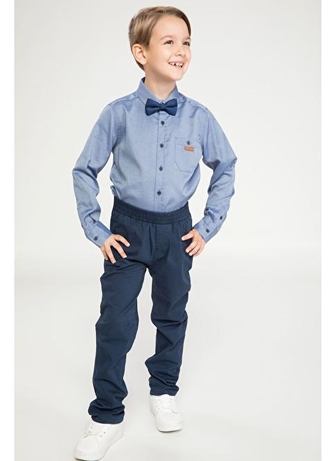 DeFacto Basic Gabardin Pantolon Mavi
